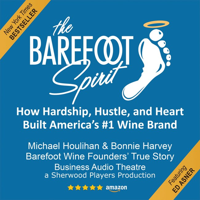 """Cover tile for the fully casted and performed Barefoot Spirit Audiobook, available now at all audiobook retailers, and Finalist for the Audiobook Association's 2020 """"Audie"""" Award for Business and Personal Growth audiobook."""