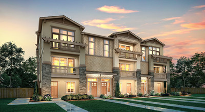 Two- and three-story townhome-style condos with a penthouse and elevator, per plan   Sierra Collection at Enclave at Mission Falls in Fremont, CA