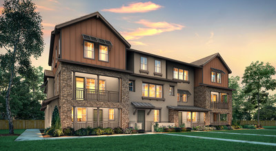 Three-story townhome-style condos with an elevator, per plan   Cascade Collection at Enclave at Mission Falls in Fremont, CA