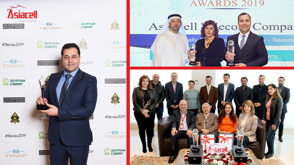 Asiacell Wins Three World Awards in 2019 (PRNewsfoto/Asiacell)