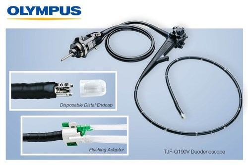 Olympus Announces FDA 510(k) Clearance of the TJF-Q190V Duodenoscope with Sterile, Disposable Distal Endcap and Proprietary Flushing Adapter, Designed to Improve the Ease of Reprocessing
