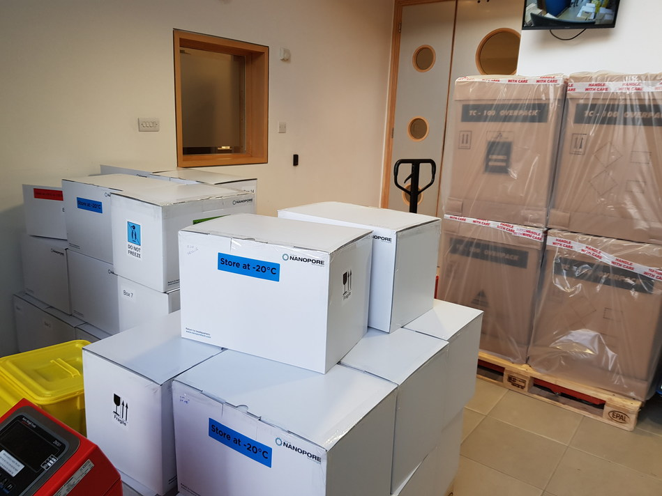 700Kg of Oxford Nanopore sequencers and consumables are on their way for use by Chinese scientists in understanding the current coronavirus outbreak. (PRNewsfoto/Oxford Nanopore Technologies)