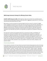 MEG Energy Announces Closing of its Offering of Senior Notes (CNW Group/MEG Energy Corp.)