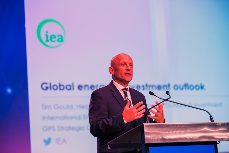Tim Gould, Head of Division, Energy Supply and Investment Outlooks for the International Energy Agency (IEA) presents the latest energy outlook at last year's event. (CNW Group/Global Energy Show)