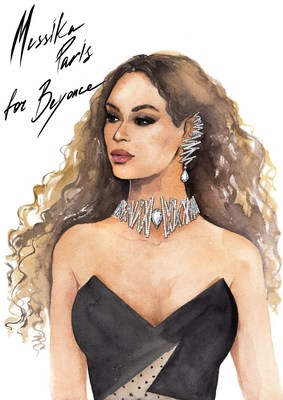 Messika Paris for Beyonce - Diamond Equalizer - Illustration by Lena Gavina