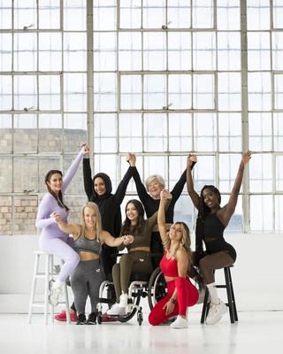 Women's Best athlete partners include (left to right): Emily Skye, Charli Adams, Saman Munir, Lauren Rose, Joan MacDonald, Heba Ali, and Brittne Jackson.