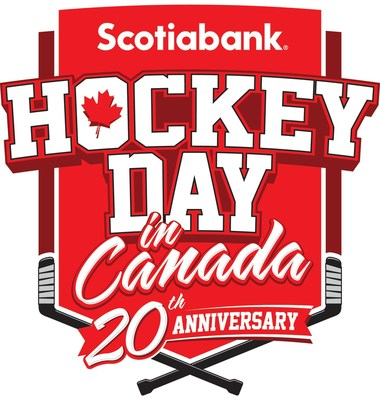 Celebrations for the 20th annual Scotiabank® Hockey Day in Canada (SHDiC)  will kick-off on Wednesday, February 5, in Yellowknife, Northwest Territories, with three days of community hockey events. The festivities will culminate on Saturday, February 8, with a 12.5-hour broadcast, featuring all seven Canadian NHL® teams. The broadcast starts at 1 p.m. ET/10 a.m. PT on Sportsnet, Sportsnet ONE, CBC, and Sportsnet NOW. All matchups will also air on NHL Live. (CNW Group/Scotiabank)