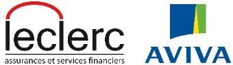 Logo : Leclerc Assurances et services financiers / Aviva (Groupe CNW/Association des commerçants de véhicules récréatifs du Québec)