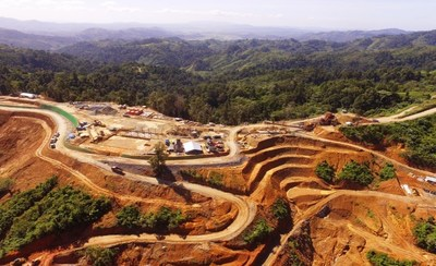 Aerial view of Mill Plant Site of the Balabag Gold Project at January 27, 2020. (CNW Group/TVI Pacific Inc.)