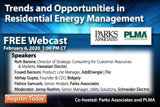 Parks Associates: Trends and Opportunities in Residential Energy Management