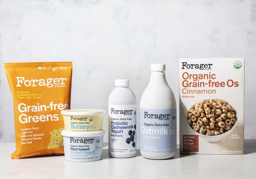 Forager Project® launches six new plant-based products, including high protein and probiotic drinkable yogurts, grain-free cereal, dairy-free butter, and grain-free chips.