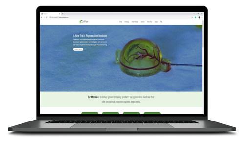Splash page of CollPlant's updated website (PRNewsfoto/CollPlant)