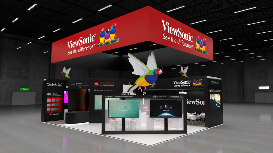 """At ISE 2020, ViewSonic will be demonstrating the power of wireless presentations and collaboration as well as introducing ViewSonic's latest lineup of touch displays, from 15.6"""" to 98"""", and smart 4K LED projectors. (PRNewsfoto/ViewSonic)"""