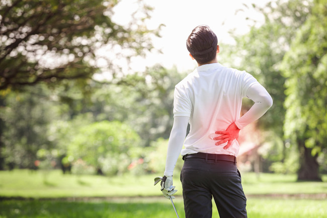 A full round of golf puts a lot of stress and strain on your body