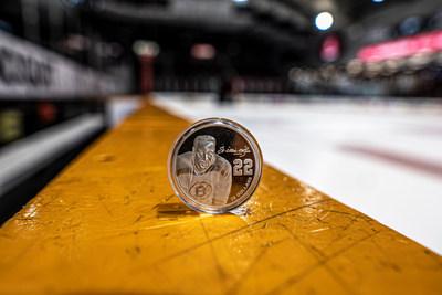 La pièce de la Monnaie royale canadienne soulignant le Mois de l'histoire des Noirs de 2020 rend hommage à Willie O'Ree, pionnier de la LNH originaire de Fredericton, au Nouveau-Brunswick. (Groupe CNW/Monnaie royale canadienne)