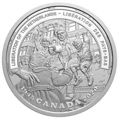 カナダ造幣局が第二次大戦戦線シリーズの新銀貨でオランダ解放75周年を祝賀