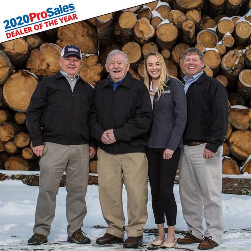 """From left to right: Don Hammond, vice president of Hammond Lumber Company; Clifton """"Skip"""" Hammond, co-founder of Hammond Lumber Company; Sadie Hammond, sales associate at Hammond Lumber Company; and Mike Hammond, president and CEO of Hammond Lumber Company. Photo courtesy: Jason Paige Smith"""