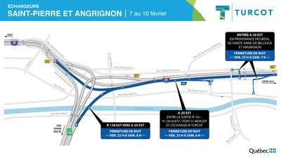 2- Entraves − Échangeurs Saint-Pierre et Angrignon (Groupe CNW/Ministère des Transports)