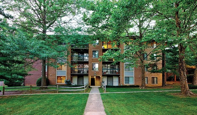 The Timbers at Long Reach apartment community, also located in Columbia, is set within a lush, tree-covered site.