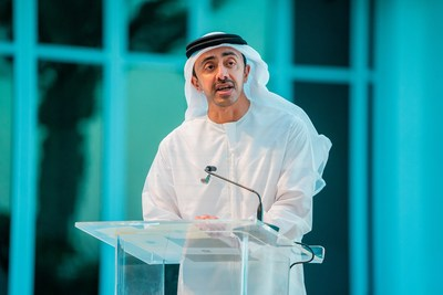 HH Sheikh Abdullah bin Zayed speaks at the celebration event