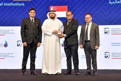 HH Sheikh Ahmed bin Mohammed bin Rashid Al Maktoum awards Liquinex Group Pte Ltd the Innovative Research & Development Award - International Institutions category of the Mohammed bin Rashid Al Maktoum Global Water Award