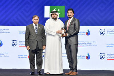 HH Sheikh Ahmed bin Mohammed bin Rashid Al Maktoum awards Dr Muhammad Wakil Shahzad the first place (jointly) Innovative Individual Award -Youth Award category at the Mohammed bin Rashid Al Maktoum Global Water Award
