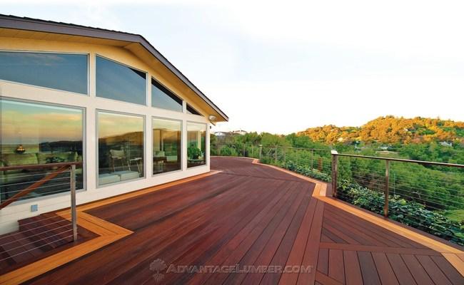 Ipe Wood Deck with Garapa Border