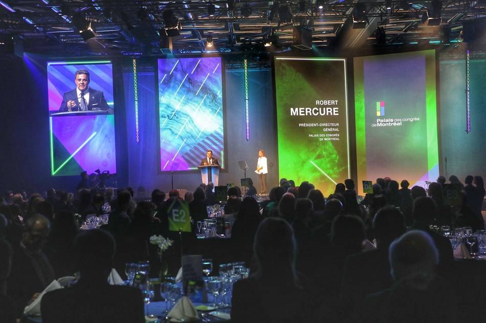 On February 5, 2020, at the Recognition Awards Gala for its Ambassadors Club, Palais des congrès de Montréal celebrated 17 personalities for their active involvement in bringing international conferences to Montréal. (CNW Group/Palais des congrès de Montréal)