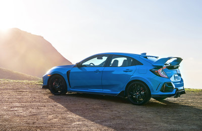 The 2020 Honda Civic Type R made its U.S. debut at the Chicago Auto Show today, appearing for the first time in public in its new Boost Blue exterior color scheme. The 2020 Civic Type R brings a number of changes and improvements to Type R's winning formula, with revised styling, improved handling and braking, better engine cooling and the addition of standard Honda Sensing® safety and driver-assistive technologies.