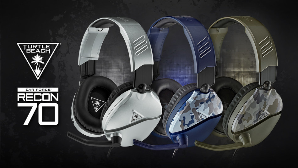 The Turtle Beach adds three new colorways to the #1 selling lineup of Recon 70 wired console gaming headsets.