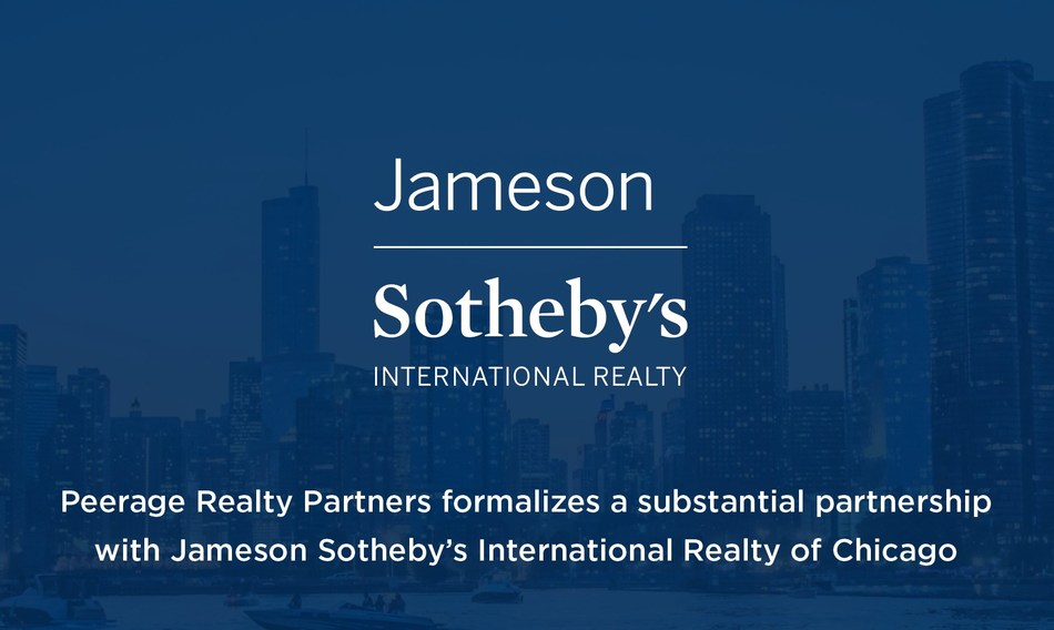 Peerage Realty Partners formalizes a substantial partnership with Jameson Sotheby's International Realty of Chicago (CNW Group/Peerage Realty Partners Inc.)