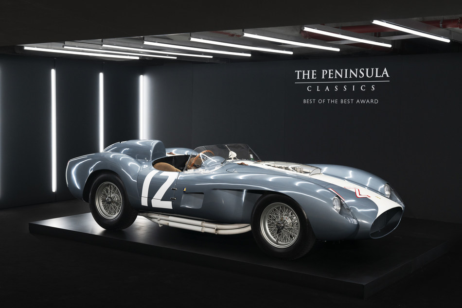 1958 Ferrari 335 S Spyder, coachwork by Scaglietti, named winner of the fifth annual The Peninsula Classics Best of The Best Award in a ceremony held at The Peninsula Paris.