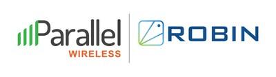 Logo da Parallel Wireless e da Robin.io