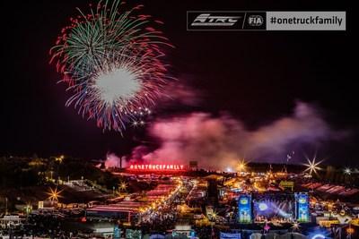 Célébrations #onetruckfamily lors de la course FIA ETRC 2019 au circuit de Nurburgring