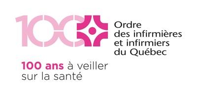 Logo : 100e anniversaire - Ordre des infirmières et infirmiers du Québec (OIIQ) (Groupe CNW/Ordre des infirmières et infirmiers du Québec)