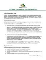 Document d'information sur Trans Mountain (Groupe CNW/Trans Mountain Corporation)