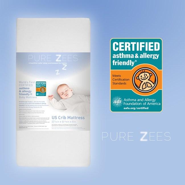 Pure Zees Crib Mattress - The World's FIRST asthma & allergy friendly® CERTIFIED Infant Mattress