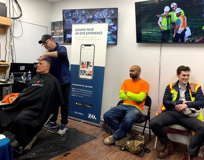 Developer Tishman Speyer offers free haircuts by ZO. as part of its new amenities for construction workers program