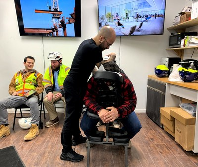 Developer Tishman Speyer offers free massages by ZO. as part of its new amenities for construction workers program