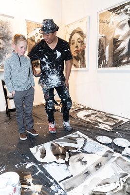 Sofia Vergara hosted a private reception for St. Jude Children's Research Hospital® (http://www.stjude.org) on the opening night of the 25th annual LA Art Show to raise awareness and support for its lifesaving mission: Finding cures. Saving children.® Artist Robert Vargas painted live portraits, including one of St. Jude patient Cole. Tony Thomas and Jason Thomas Gordon, son and grandson of hospital founder Danny Thomas, greeted attendees to share Danny's legacy and celebrate progress in the fight to end childhood cancer.Photo credit: Cliff William Photography