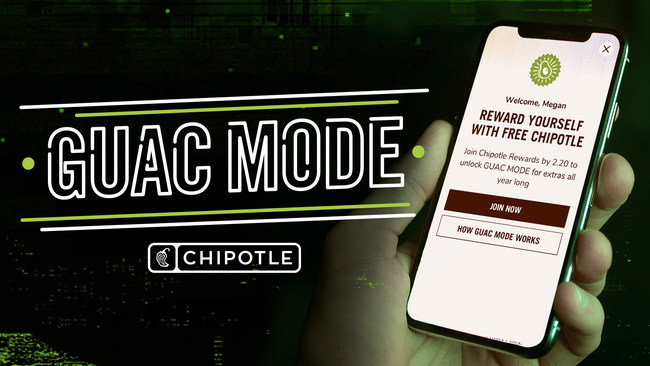Enroll in Chipotle Rewards by February 20th for Guac Mode