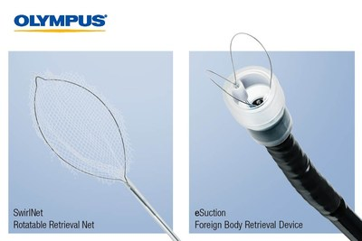 Two New Olympus EndoTherapy Products, the SwirlNet Therapeutic Device and eSuction Distal Cap, Aid Physicians in Retrieving Foreign Bodies and Food Bolus Impactions