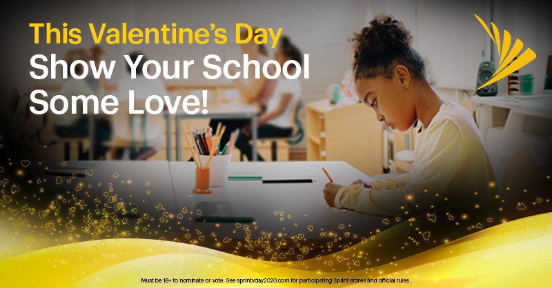 Starting today through Feb. 16, Sprint invites you to come into a nearby Sprint store and vote for your favorite school. The top 33 schools with the most votes will get $5,000.