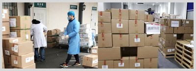 Supplies have been delivered from Shanghai to five hospitals in Hubei province