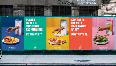 """Postmates, a leader in enabling anyone to have just about anything delivered on-demand, has created a new ad campaign titled """"When all you can food is think about,"""" that sets the brand apart in the on-demand delivery category."""