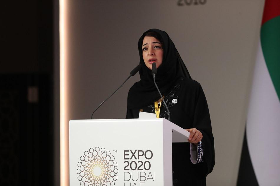 Her Excellency Reem al Hashimy addresses the African Union Summit (PRNewsfoto/Expo 2020 Dubai)