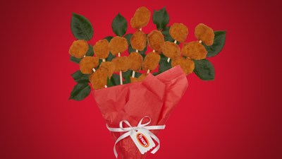 Ditch the Roses – What Better Way to Say, «I Love You» Than with A Bouquet Made of Chicken Nuggets