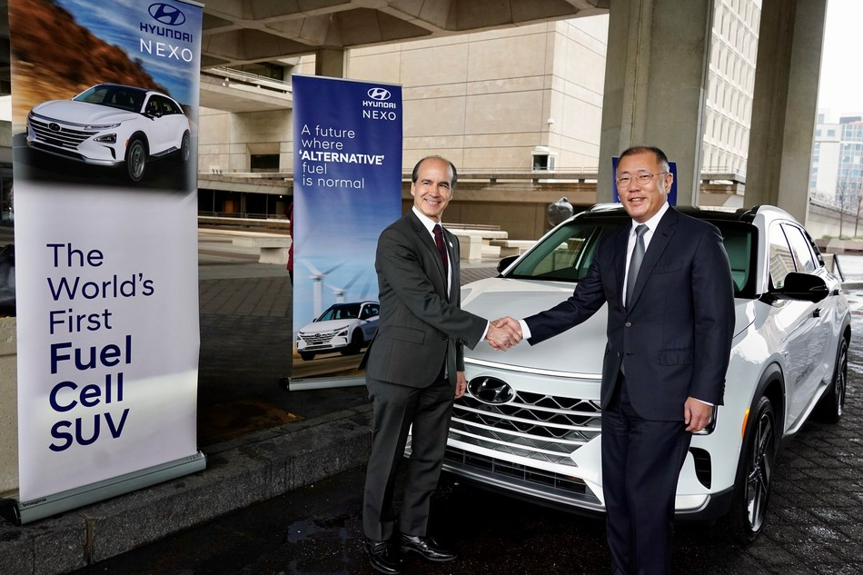 Euisun Chung, Executive Vice Chairman of Hyundai Motor Group and Under Secretary of Energy Mark W. Menezes announced the expansion of the partnership between Hyundai Motor Company and the U.S. Department of Energy (DOE) for its support of the DOE Hydrogen and Fuel Cells Program.