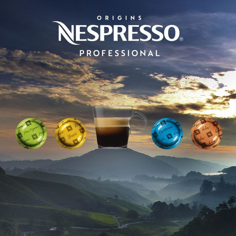 Nespresso Professional Origins coffee range