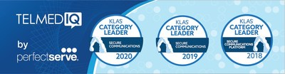 "PerfectServe's Telmediq solution was named the Category Leader for Secure Communications in the ""2020 Best in KLAS: Software and Services"" report. This marks Telmediq's third consecutive win in the category."
